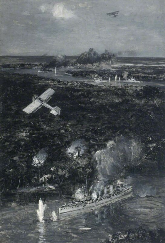 HMS 'Mersey' and HMS 'Severn' Firing on SMS 'Koenigsberg'