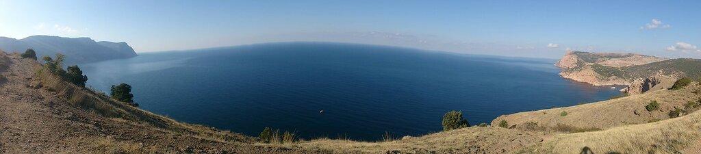 Панорама от мысы Айя до Балаклавы