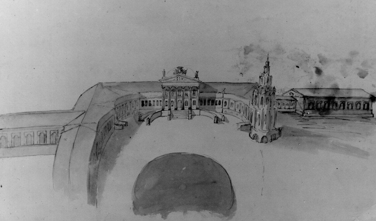 Рисунок усадьбы Петровско - Разумовское. 1770-е годы..jpg
