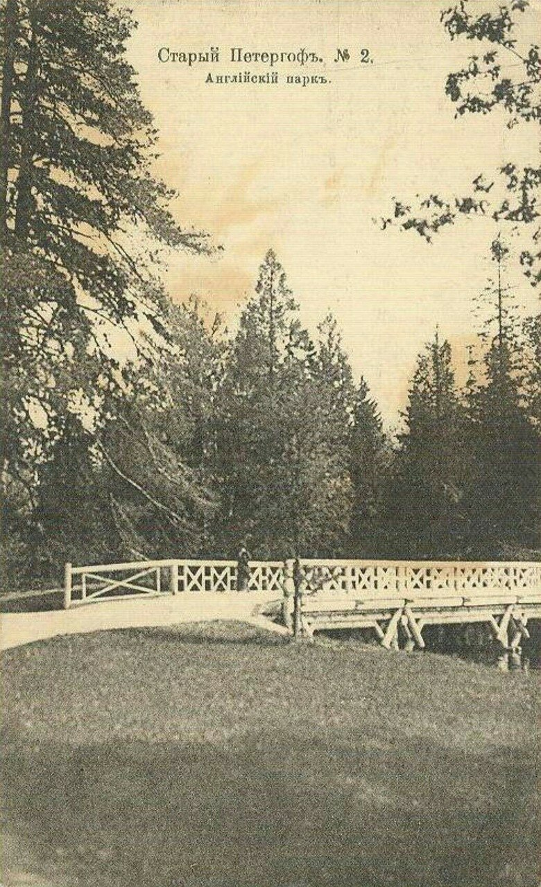 Английский парк. Березовый мост