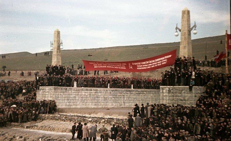 1951, 4 ноября, Открытие Верхне-Самгорского магистрального канала. Владислав Микоша2.jpg
