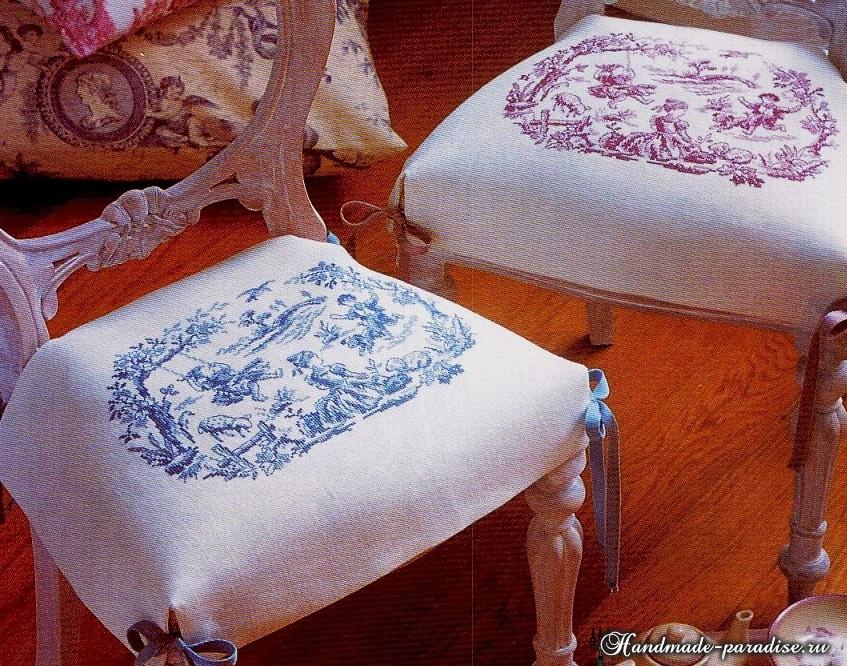 Схемы монохромной вышивки