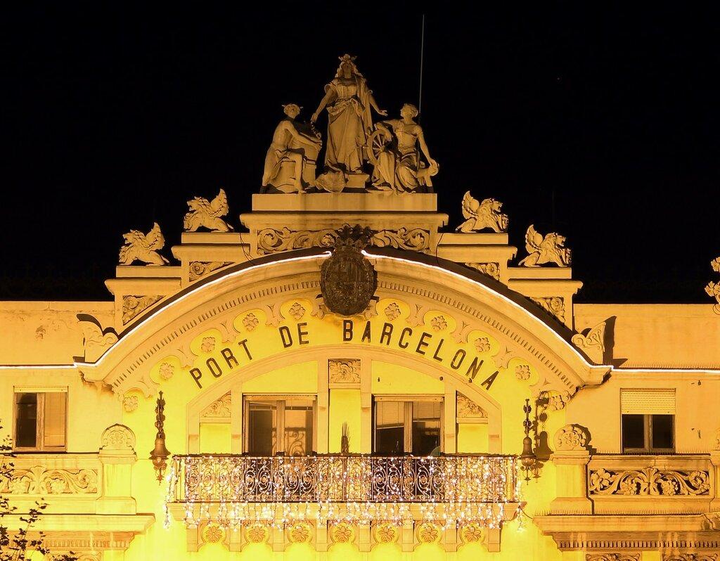 Ночная Барселона. Управление порта