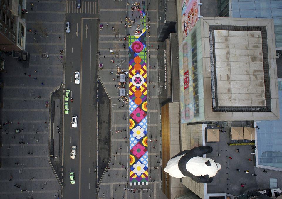 Занятие по боевым искусствам в городском уезде Дэнфэн, провинция Хэнань.