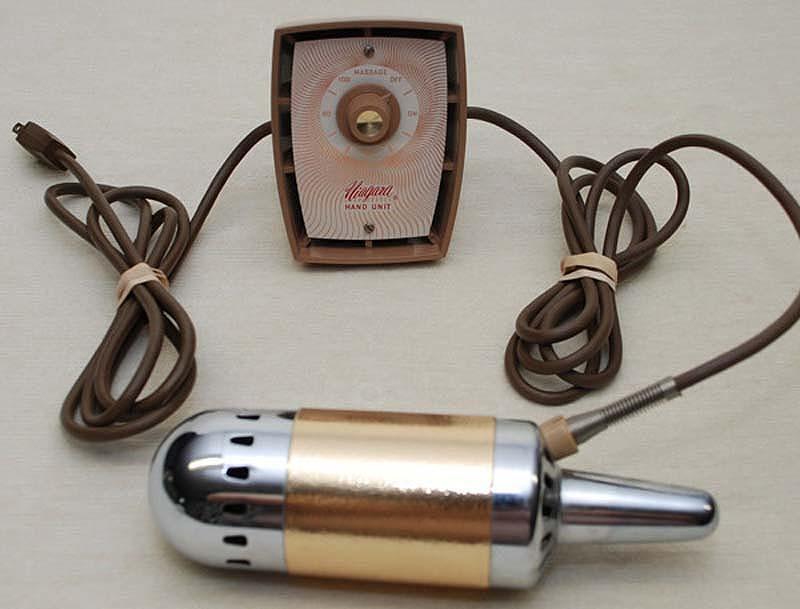 6. Ручной аппарат Niagara, 1968. Первый в мире массажер, оборудованный регулятором скорости, мог при