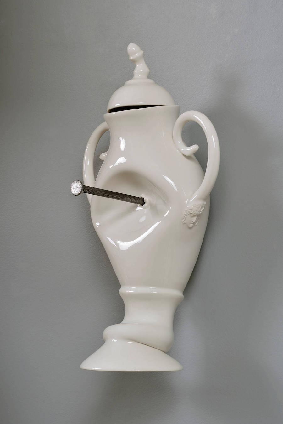 Porcelain Vessels Pummeled in Unfortunate Accidents by Laurent Craste