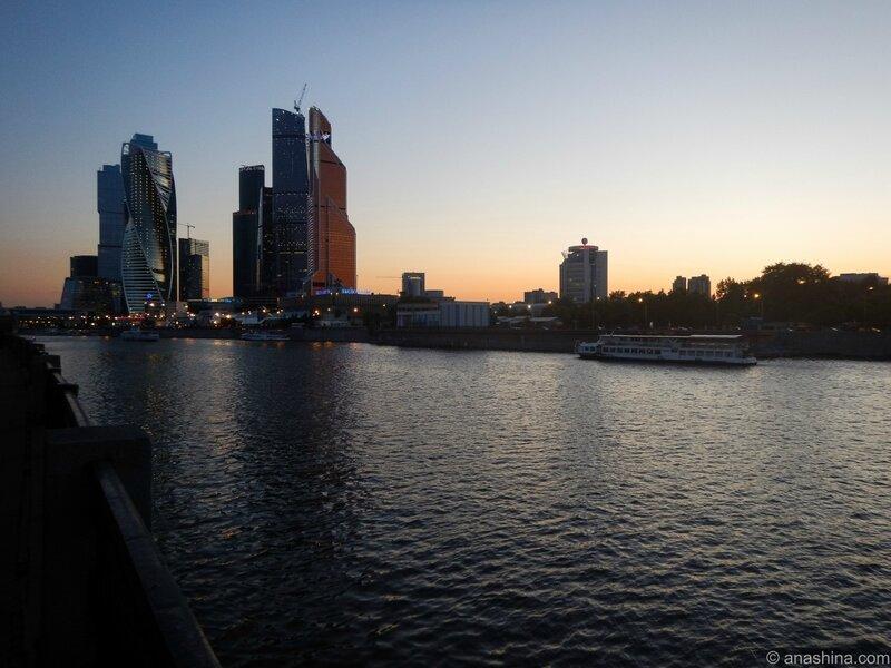 "Панорама Краснопресненской набережной и ""Москва-Сити"""