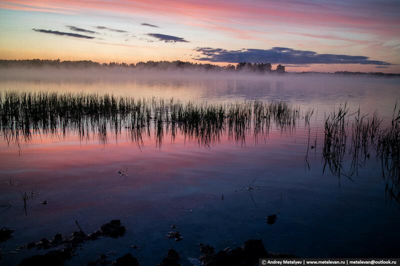 озеро Турбанье рассвет лето 2016