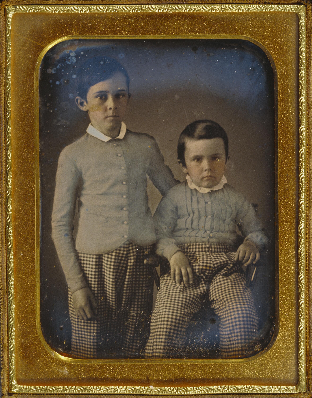 1854. Портрет двух мальчиков