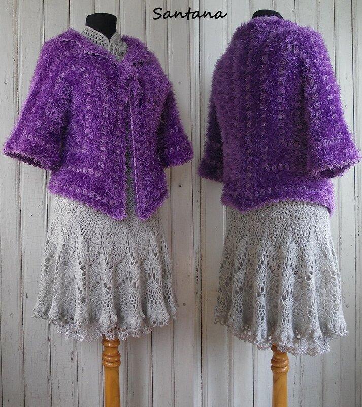 Серое платье и шубка. Коллаж 2-1