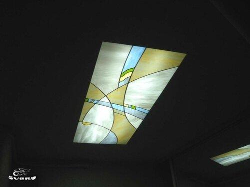 020. витраж в потолке, коридор