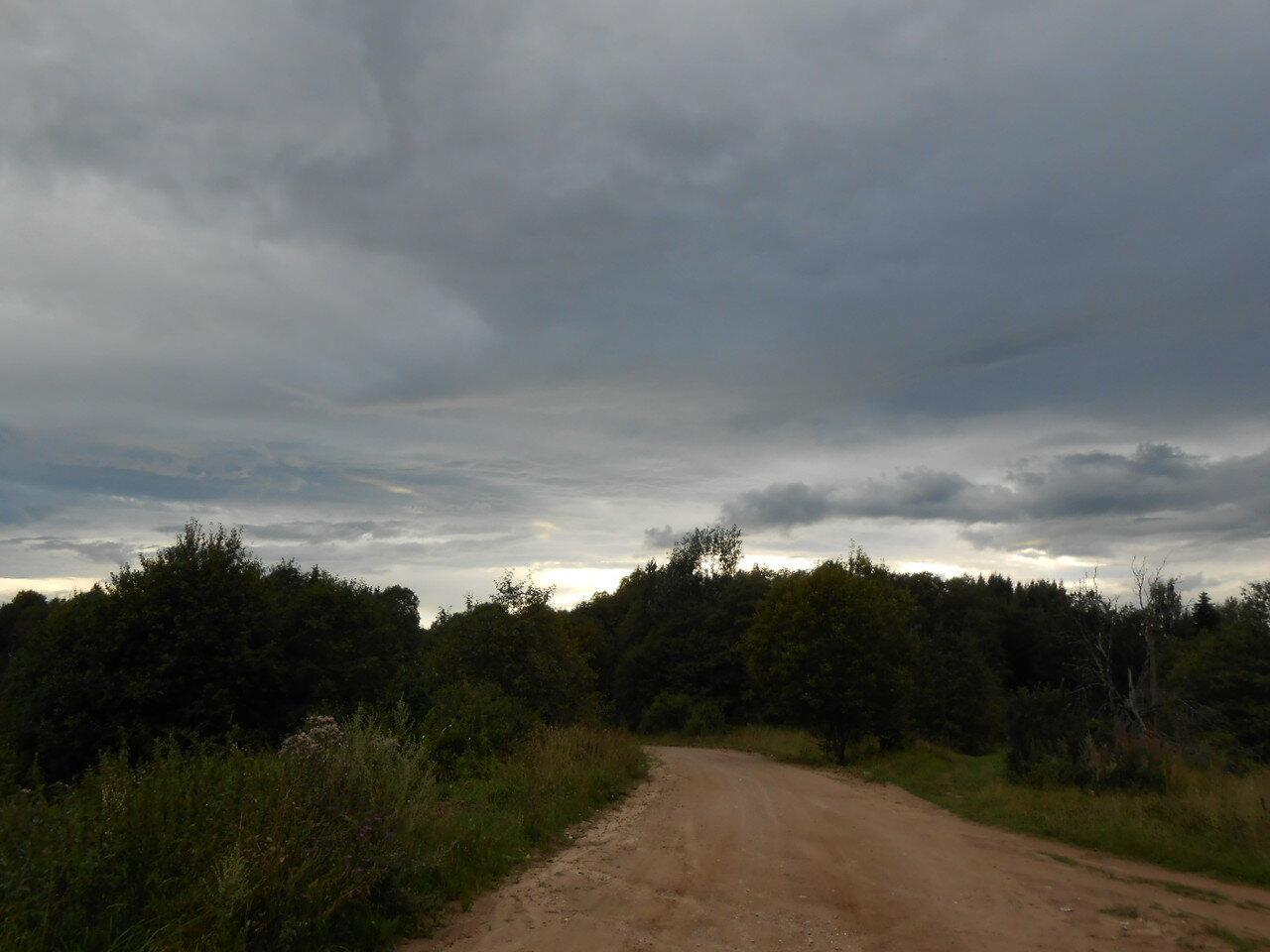 Дорога ведущая к деревне Байнёво