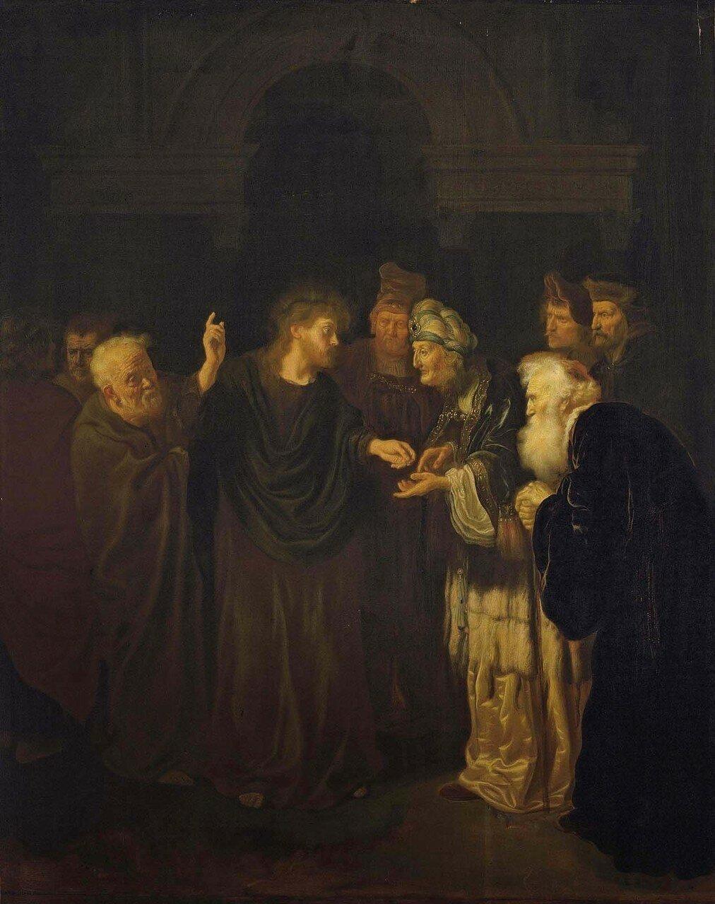 1640_Динарий кесаря (The Tribute Money)_106.5 х 84.5_д.,м._Частное собрание.jpg