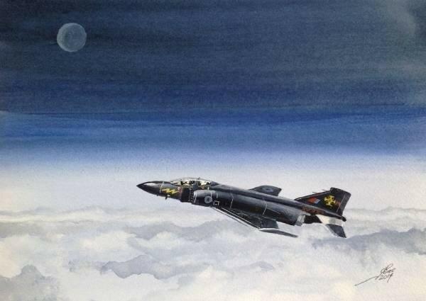 Black Mike. 111Squadron's Phantom Black Mike, late Gate Gaurdian at RAF Leuchars.