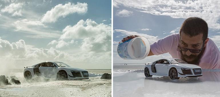 Фотограф использовал игрушечную машинку за $40 для съемки спорткара за $160,000