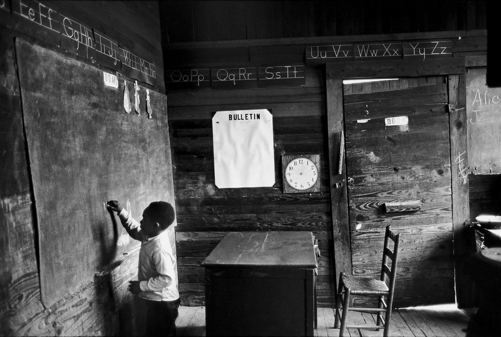 USA. Alabama. 1965. One-room schoolhouse near Selma.