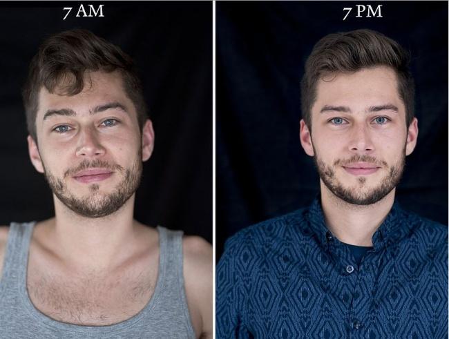 «7 утра — 7 вечера»: как по-разному выглядит человек