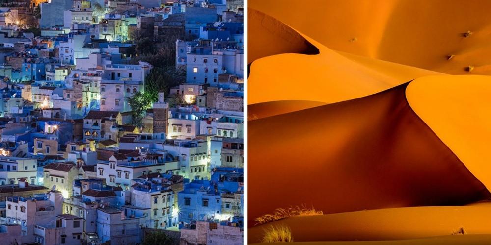 Марокко — это голубой город Шефшауэн, невероятно красивый пляж Легзира с огромными природными арками