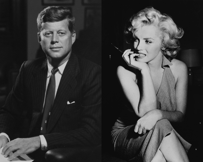2. Мэрилин Монро и Джон Кеннеди Шестилетний роман, начавшийся с тогдашним сенатором Джоном Кеннеди,