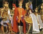 cuadro de la familia en la armadura de marionetas de Sicilia, 1977.jpg