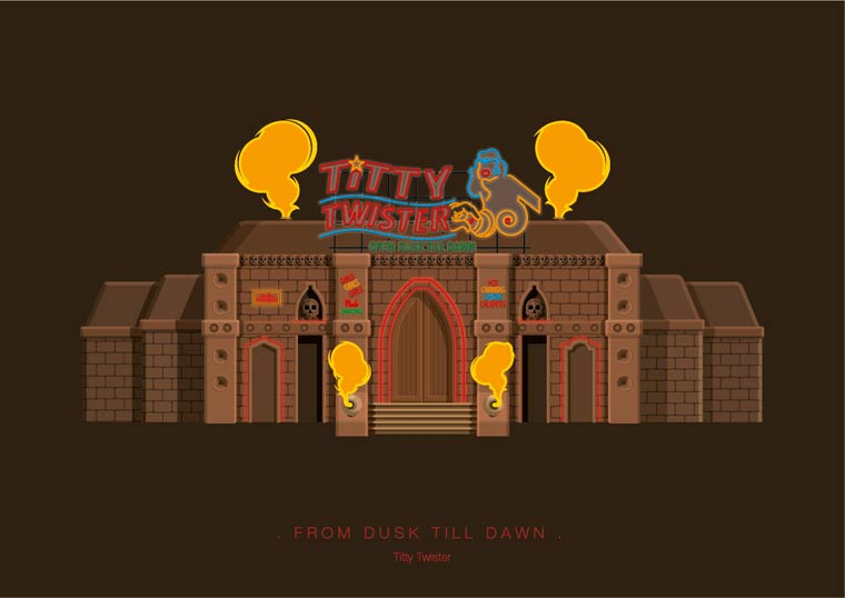 An illustrator pays tribute to the most iconic places from pop culture