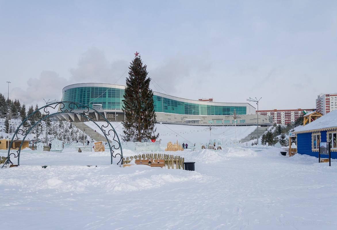 Парк Ватан Уфа зима фото 3