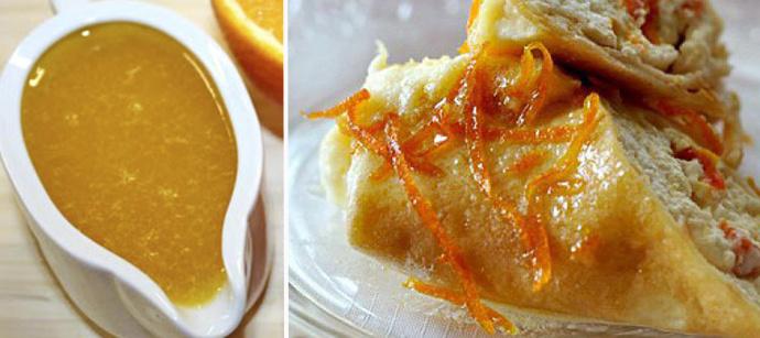 сырные блины с апельсинами