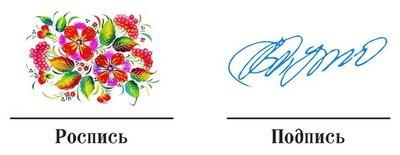 Про роспись и подпись