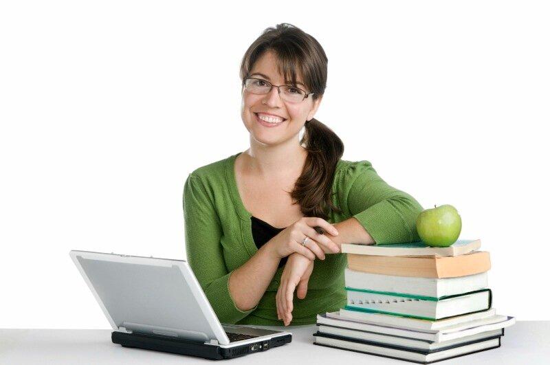 Репетитор женщина успешная яблоко