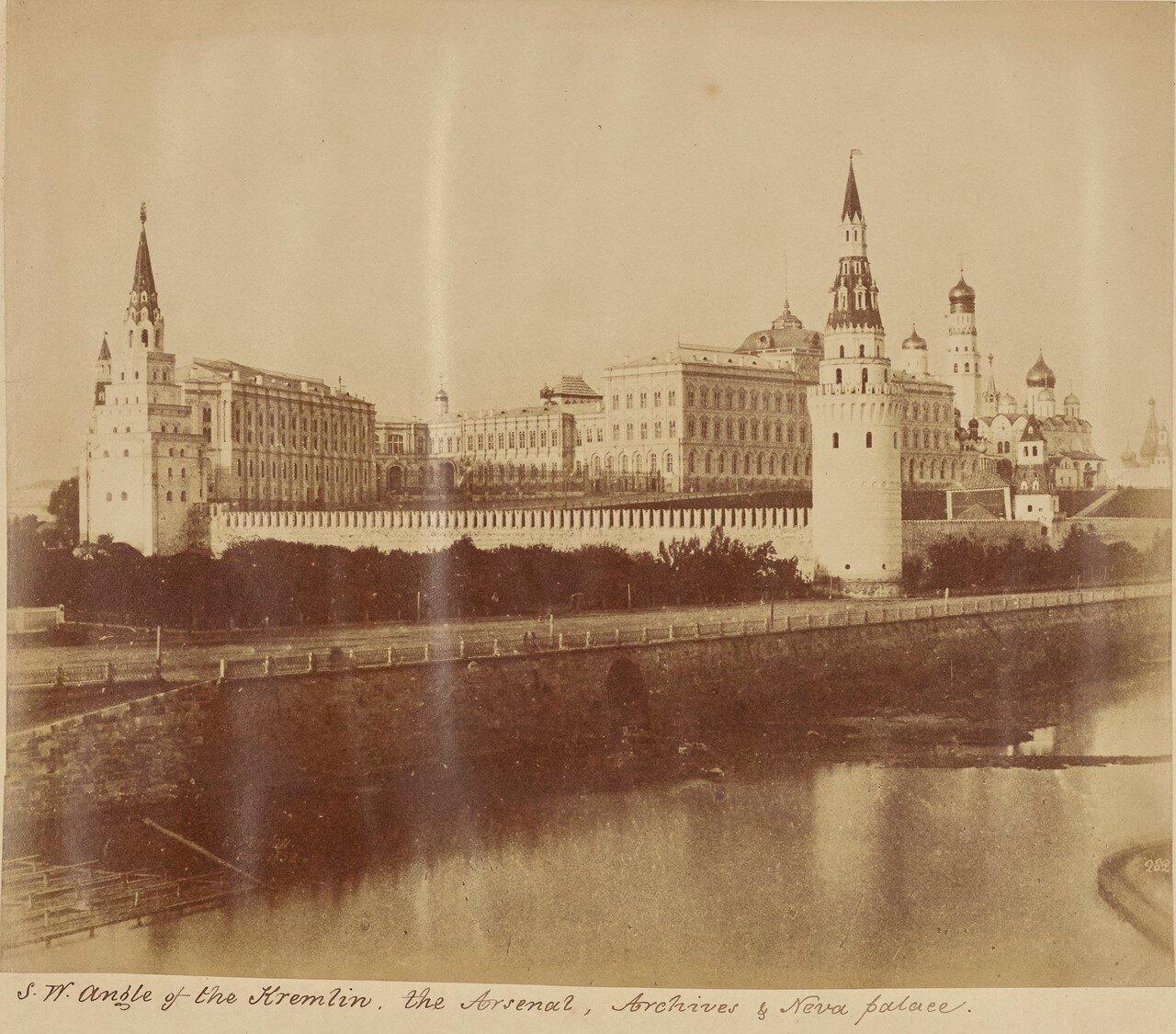 Юго-западный угол Кремля, Арсенал, Московский губернский архив старых дел & Новый дворец