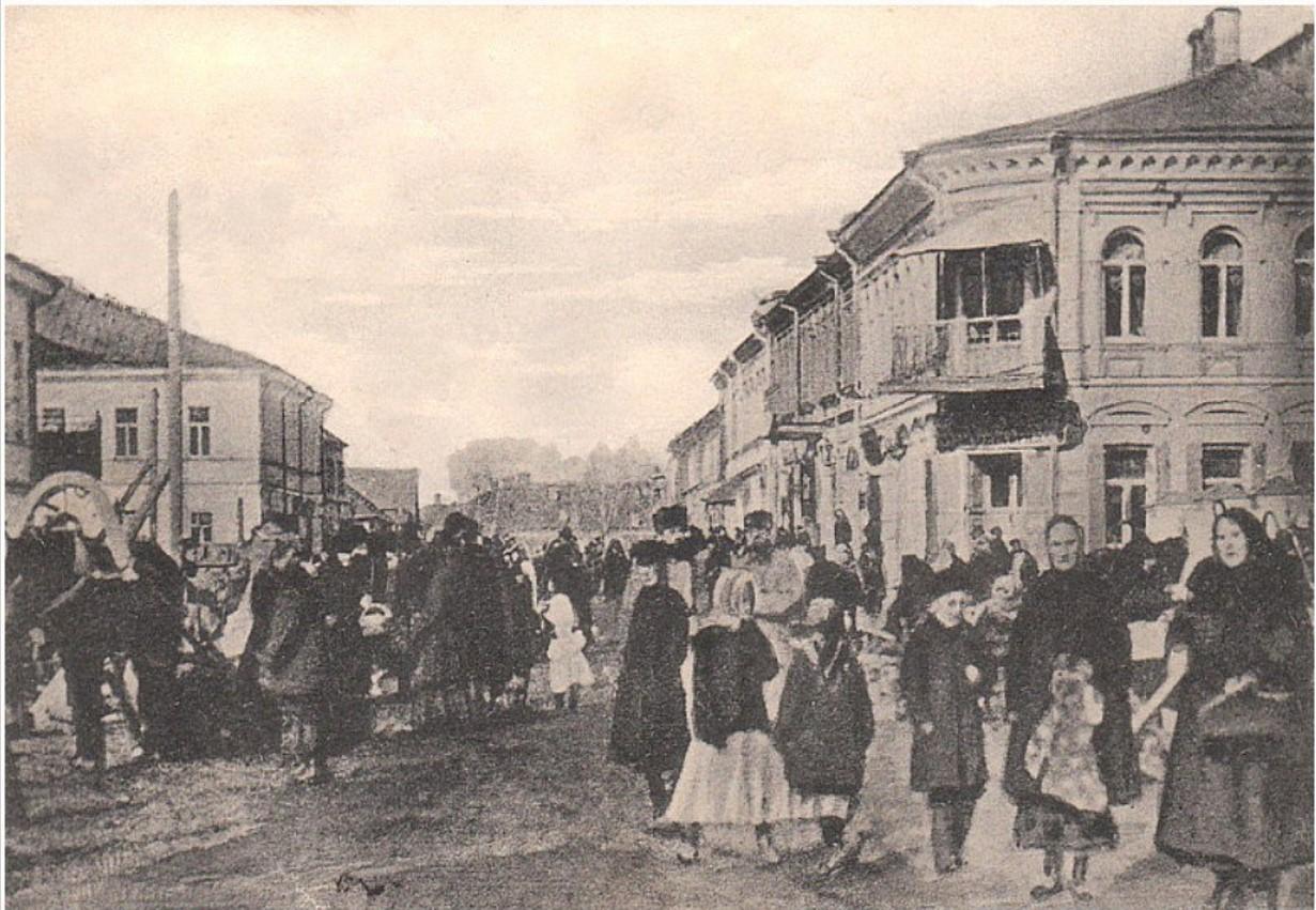 Миллионная улица в базарный день