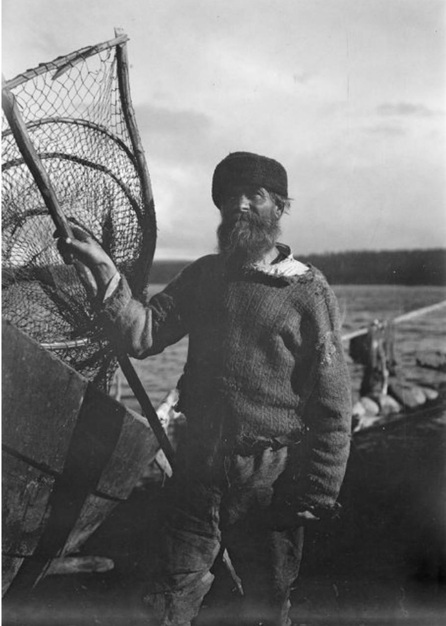 Оуланкайоки. Известный рыбак Илья Миитрела