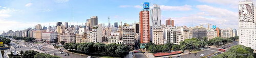 Проспект 9 июля днем, Буэнос-Айрес, Аргентина