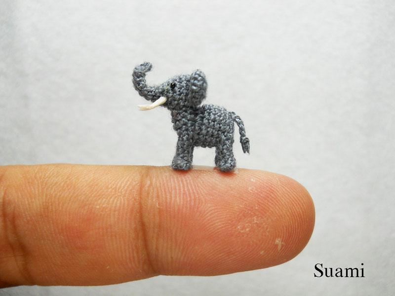 Связанные крючком 25 симпатичных миниатюрных животных