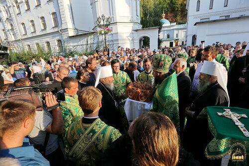 Встреча Блаженнейшего митрополита Онуфрия в Лавре. 23 сентября 2015 г.