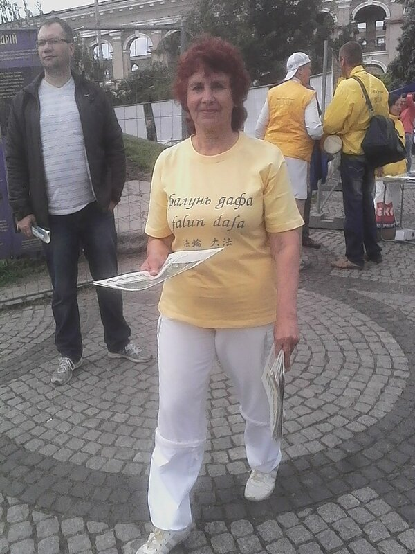 Шабаш секты фалуньгун в Киеве
