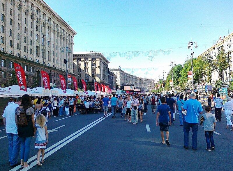 Фан-зона Евро 2012 в Киеве 17 июня