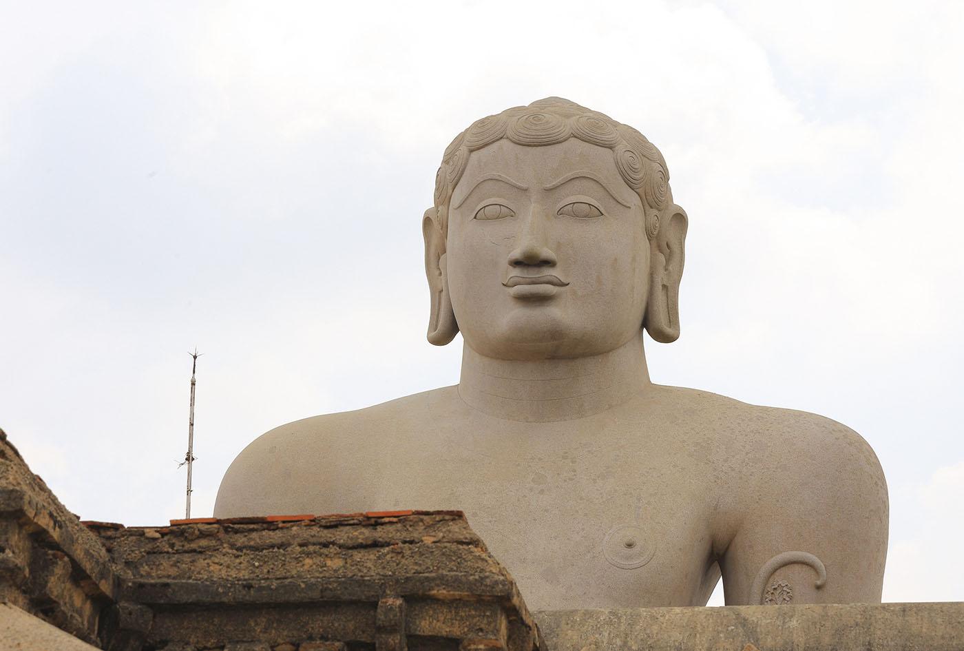 Фото 13. Отызы туристов о поездке в Индию. Бахубали (Гоматешвара). Голова. Экскурсия на холм Шраванабелагола в районе Хассана в Карнатаке. 125, 14.0, 100, 127