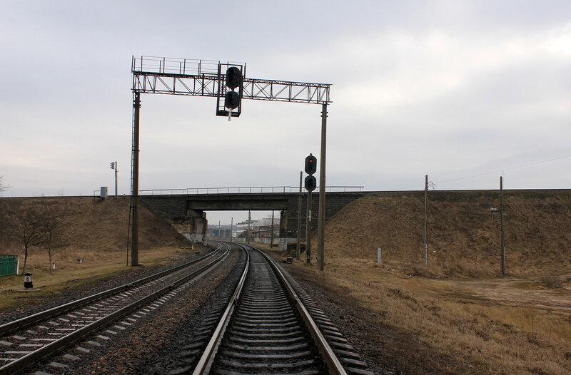 Маршрутный светофор станции Молодечно