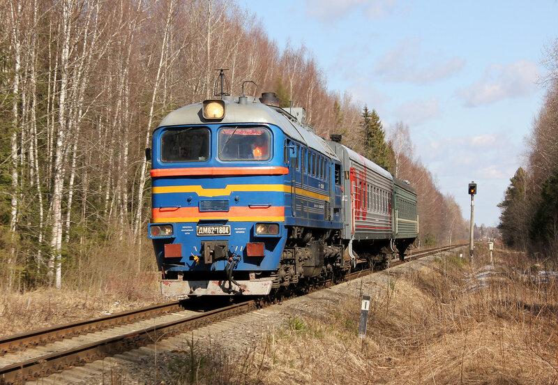 ДМ62-1804 на перегоне Белый городок - Савёлово