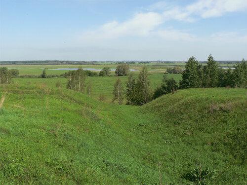 Вид на Оку с насыпи железнодорожной ветки на Гавердово