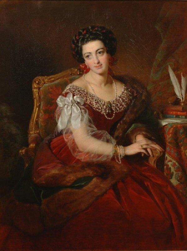 Фридрих фон Амерлинг, Женщина в красном