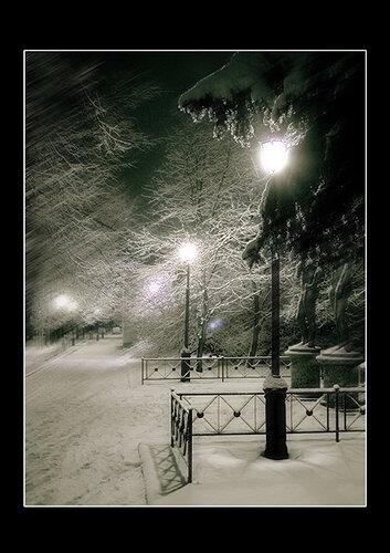 Зимние фонари.  Арина Соколова.