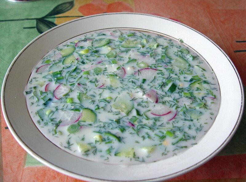 традиционные рецепт окрошки