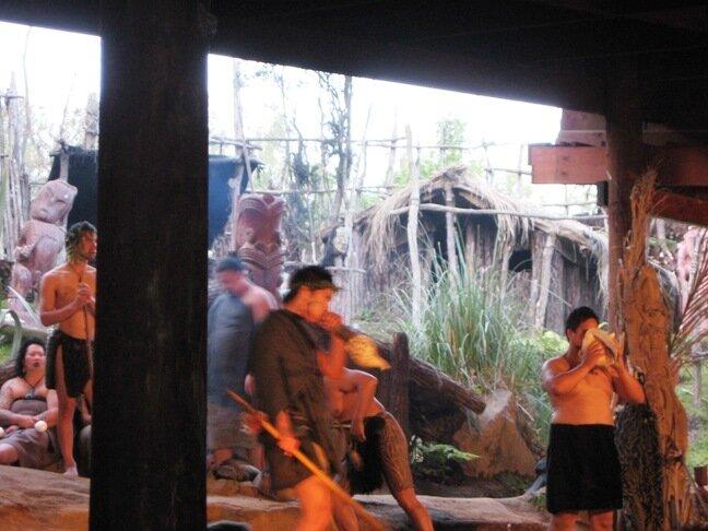 Маори. Представление С раковинами