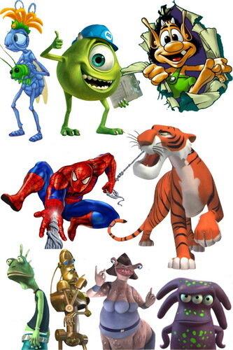 мультяшные герои клипарт: