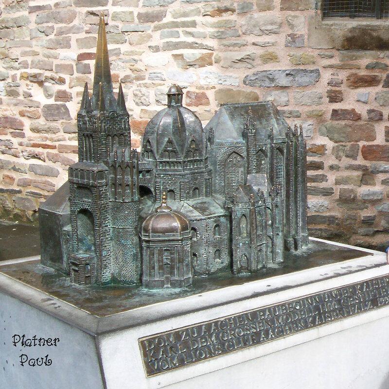 Макет собора в Аахене (Германия)