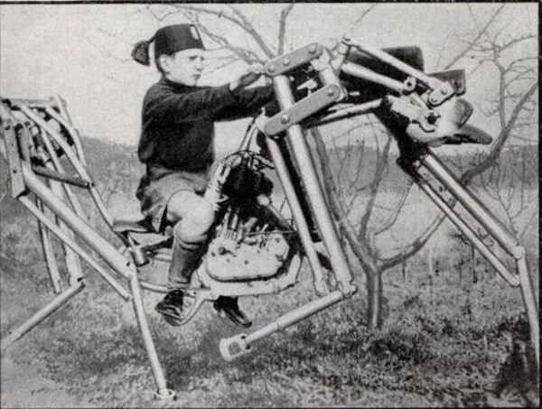 Мотолошадь, полезна для обучения верховой езде (Италия, 1933)