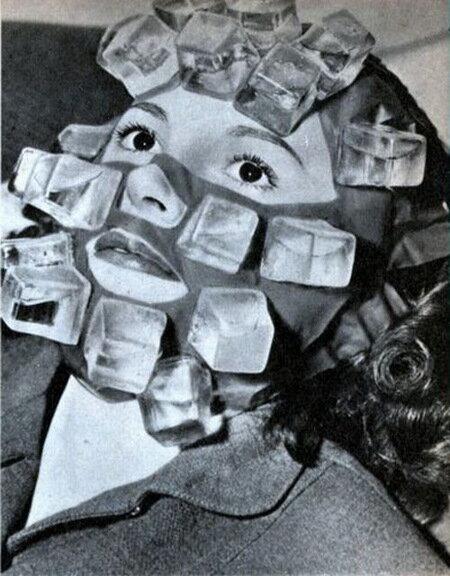 Компресс со льдом против похмелья, придуманный в 1947 году сотрудником Max Factor для голливудских актрис.