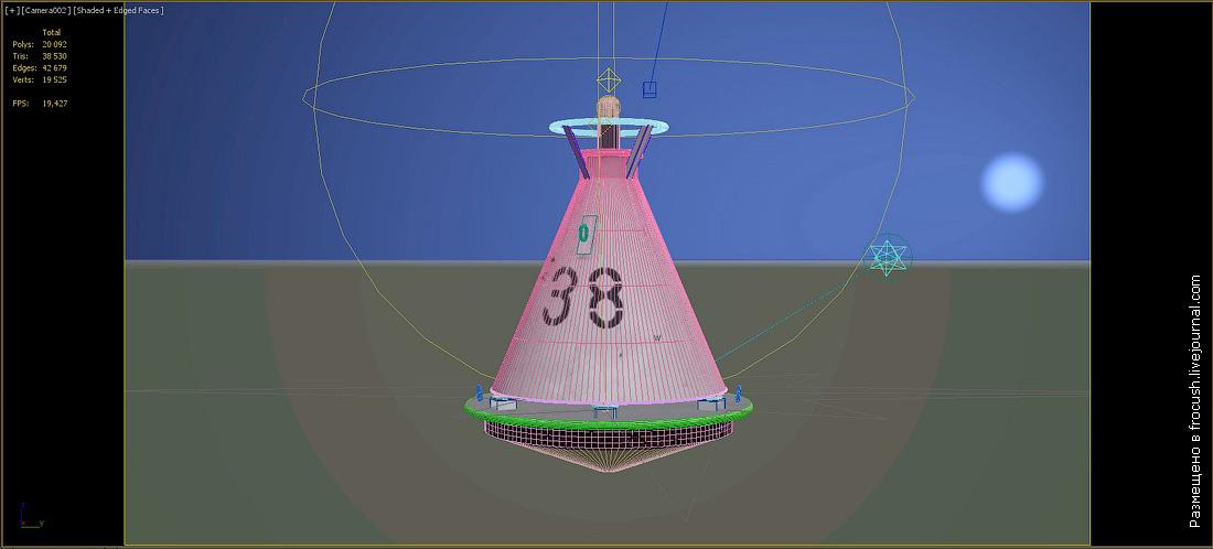 речной буй 3D модель